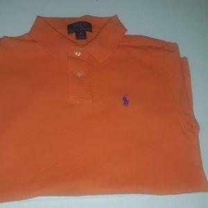 Ralph Lauren polo orange shirt